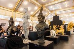 Banguecoque, Tailândia - 4 de novembro de 2017: O crematório real do rei foto de stock royalty free