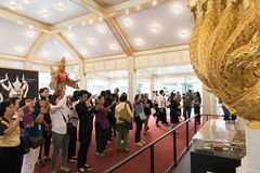 Banguecoque, Tailândia - 4 de novembro de 2017: O crematório real do rei fotografia de stock