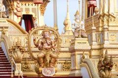 Banguecoque, Tailândia - 4 de novembro de 2017: O crematório real do rei fotos de stock royalty free