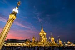 Banguecoque, Tailândia - 4 de novembro de 2017: O crematório real do rei imagens de stock royalty free