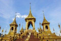 Banguecoque, Tailândia: 29 de novembro de 2017, o crematório real para o HM rei Bhumibol Adulyadej em Sanum Luang imagens de stock royalty free