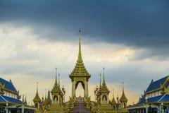 Banguecoque, Tailândia: 29 de novembro de 2017, o crematório real para o HM rei Bhumibol Adulyadej em Sanum Luang foto de stock royalty free