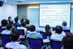 BANGUECOQUE TAILÂNDIA 29 DE NOVEMBRO: Seminário de Banguecoque Os povos tailandeses apreciam o seminário Fotos de Stock