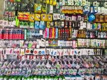 BANGUECOQUE, TAILÂNDIA - 2 DE OUTUBRO DE 2016: Mercado acessório do telefone celular na estrada do suapa Foto de Stock