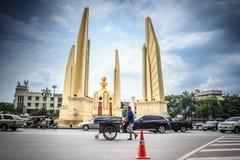 Banguecoque, Tailândia - 19 de outubro de 2016: Monumento Anusawar da democracia Imagens de Stock Royalty Free