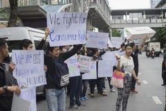 Banguecoque, Tailândia: 26 de setembro de 2016 - o usuário do carro do baixio obtém uma multidão instantânea em Ford Motor Compan Foto de Stock Royalty Free