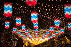 BANGUECOQUE, TAILÂNDIA - DEZEMBRO 27,2015: Colorido da lâmpada fastival Imagem de Stock