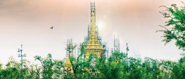 Banguecoque, Tailândia - em setembro de 2017 no luang do sanam: panorama Foto de Stock Royalty Free