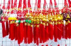 BANGUECOQUE, TAILÂNDIA - FEVEREIRO 8,2017: Ano novo chinês auspicioso Fotografia de Stock