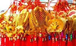 BANGUECOQUE, TAILÂNDIA - FEVEREIRO 8,2017: Ano novo chinês auspicioso Foto de Stock