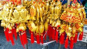 BANGUECOQUE, TAILÂNDIA - FEVEREIRO 8,2017: Ano novo chinês auspicioso Imagens de Stock