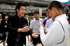 Banguecoque, Tailândia: Músico no Paragon de Sião fotografia de stock royalty free