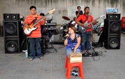 Banguecoque, Tailândia: Músicos cegos Fotos de Stock
