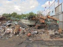 Banguecoque-Tailândia: Montanhas do desperdício reciclável Fotos de Stock Royalty Free