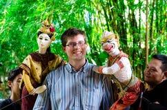 Banguecoque, Tailândia: Mostra de fantoche Foto de Stock Royalty Free