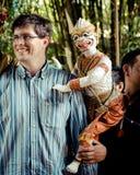 Banguecoque, Tailândia: Mostra de fantoche Imagens de Stock