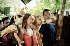 Banguecoque, Tailândia: Mostra de fantoche Fotos de Stock Royalty Free