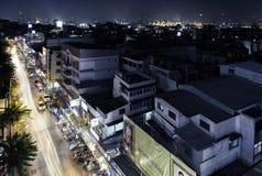 Banguecoque, Tailândia na noite Foto de Stock Royalty Free