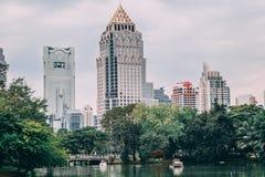 Banguecoque, Tailândia, 12 13 18: Parque de Lumpini foto de stock