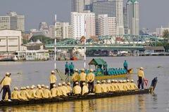 Banguecoque, Tailândia, procissão das barcas reais Imagem de Stock Royalty Free