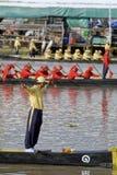 Banguecoque, Tailândia, procissão das barcas reais Imagens de Stock Royalty Free