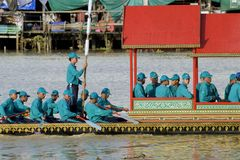 Banguecoque, Tailândia, procissão das barcas reais Foto de Stock