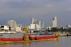 Banguecoque, Tailândia, procissão das barcas reais Imagens de Stock