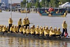 Banguecoque, Tailândia, procissão das barcas reais Foto de Stock Royalty Free