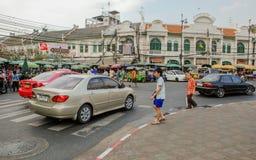 Banguecoque, Tailândia: Tha Tian Market fotos de stock royalty free