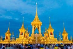 BANGUECOQUE, TAILÂNDIA - 15 DE NOVEMBRO DE 2017: O crematório real FO fotografia de stock royalty free