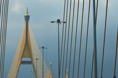 Banguecoque/Thailand-May132018: Ele ` s uma ponte que fosse projetada pelo rama 9 do rei de Tailândia foto de stock