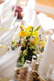 banguetbröllop royaltyfria bilder