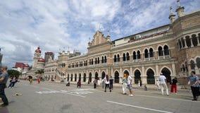 Bangunan Sultan Abdul Samad in Kuala Lumpur stock footage