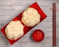 Banh bao pork bun Stock Photography