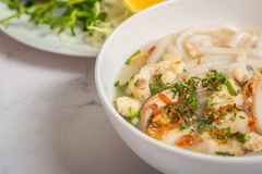Banh Canh Ca Loc - Vietnamese Thick Noodle Soup royalty free stock image