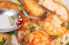Banh Canh, vietnamesische traditionelle Suppe Lizenzfreies Stockbild