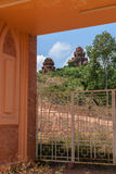 The Banh It Cham towers seen through the entrance gate. Stock Photo