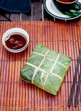 Banh chung, Traditional present for Lunar New Year, Vietnamese  dish. Stock Photography