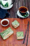 Banh chung, Traditional present for Lunar New Year, Vietnamese  dish. Royalty Free Stock Image