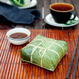 Banh chung, Traditional present for Lunar New Year, Vietnamese  dish. Royalty Free Stock Images