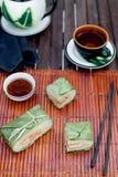 Banh Chungkin, presente tradicional por Año Nuevo lunar, plato vietnamita Imagen de archivo libre de regalías