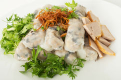 Banh cuon, Vietnamese steamed rice noodle rolls Royalty Free Stock Image
