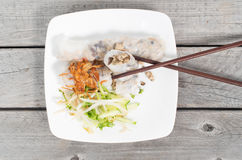Banh cuon, Vietnamese steamed rice noodle Stock Image