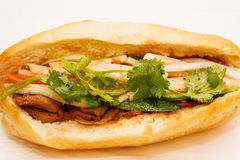 Banh Mi越南猪肉三明治 免版税库存照片