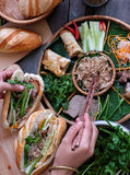 Banh mi,越南面包 免版税库存照片