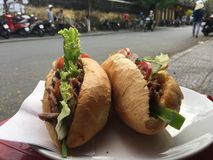 Banh mi σάντουιτς Στοκ φωτογραφία με δικαίωμα ελεύθερης χρήσης