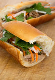 Banh mi vietnamese pork sandwich Royalty Free Stock Photo