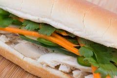 Banh mi vietnamese sandwich. Banh mi - vietnamese sandwich in baguette bread Stock Image