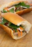 Banh Mi vietnamesisk grisköttsmörgås Royaltyfri Foto