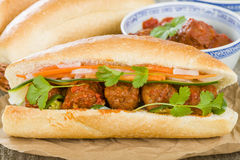 Banh Mi Xiu Mai Royalty Free Stock Photo